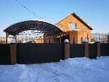 Ворота каме на ребиновой ворота для частного дома ширина
